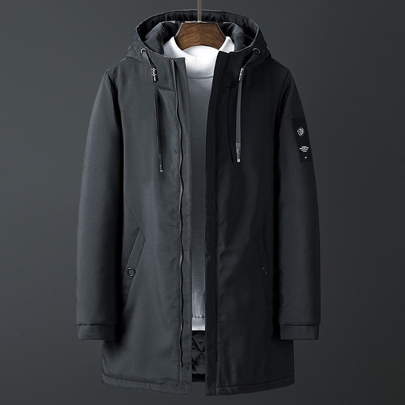 Streetwear largas chaquetas hombres romobreaker ropa de carga con capucha chaqueta con capucha abrigos masculinos invierno casual parkas para hombre caliente abrigo 8