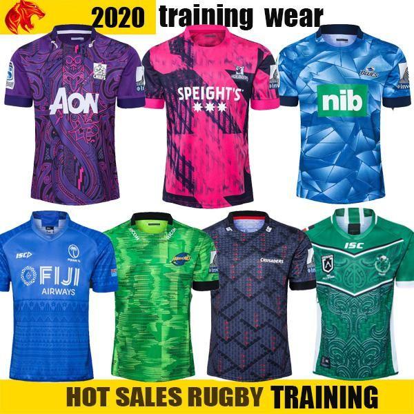 NCAA 2020 FIJI Mario Huracán Cruzadas Highland Chief Blues Super Rugby League NRL Jersey 2020 Mustang Training Training Mens Camiseta Traje Tamaño: