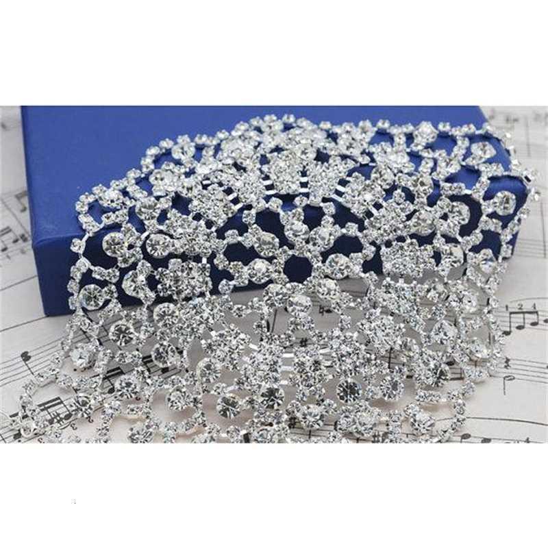 Crystal Бесплатная Доставка Дешевые Элегантные Свадебные Свадебные Перчатки Горный Груз Браслет Браслет Браслет Bangle Gorgeou