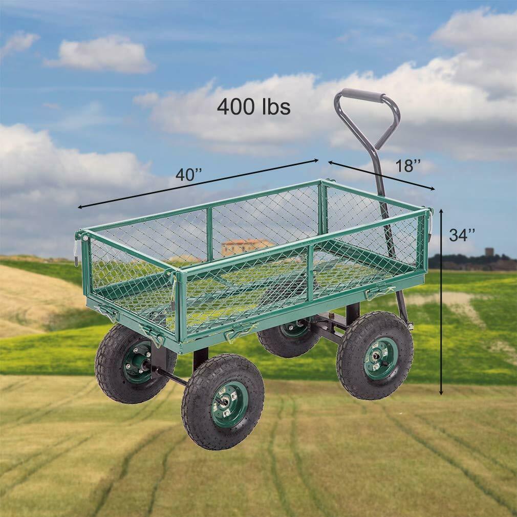 Yeni Bahçe Arabaları Vagonlar Ağır Hizmet Programı Açık Çelik Plaj Çim Bahçesi Buggy Z711