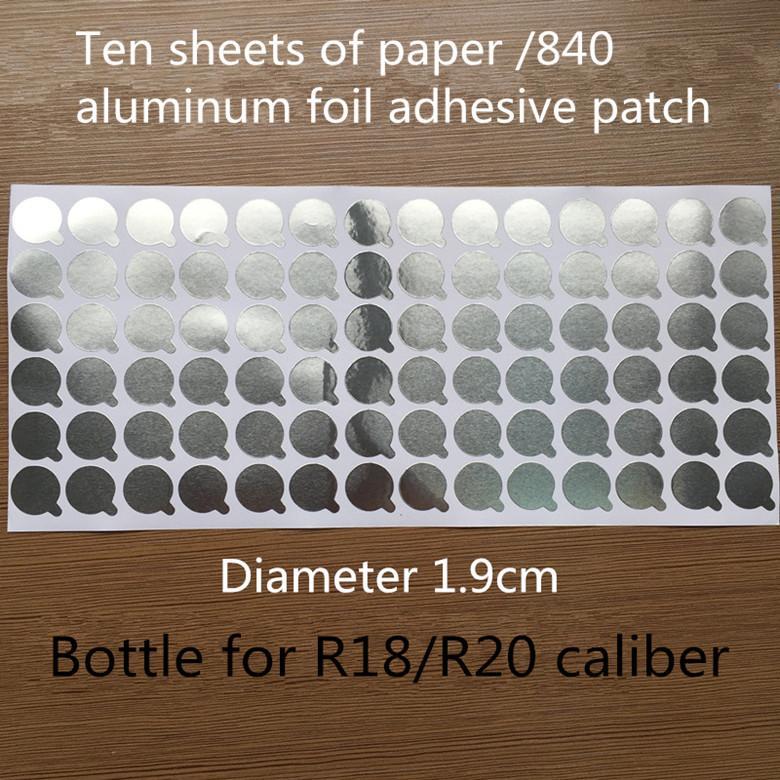 Joy Размер 1.9cm 840pcs / серия Круглый Алюминиевая фольга запечатывания наклейки косметику бутылки уплотнения наклейки (десять кусочков бумаги)