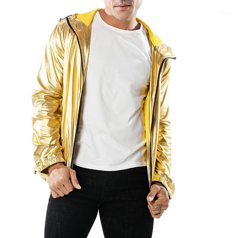 2020 nova primavera homens jaqueta brilhante jaqueta moda prata casaco dourado windbreaker hip hop cor sólida homens jeacackets1