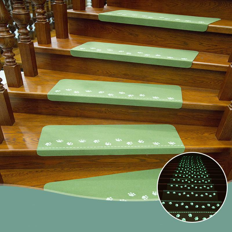 Лестница одеяло напольная ножная палка светящаяся противоскользящая свободная собственная форма PVC жилой зоны коврики ковров зеленый