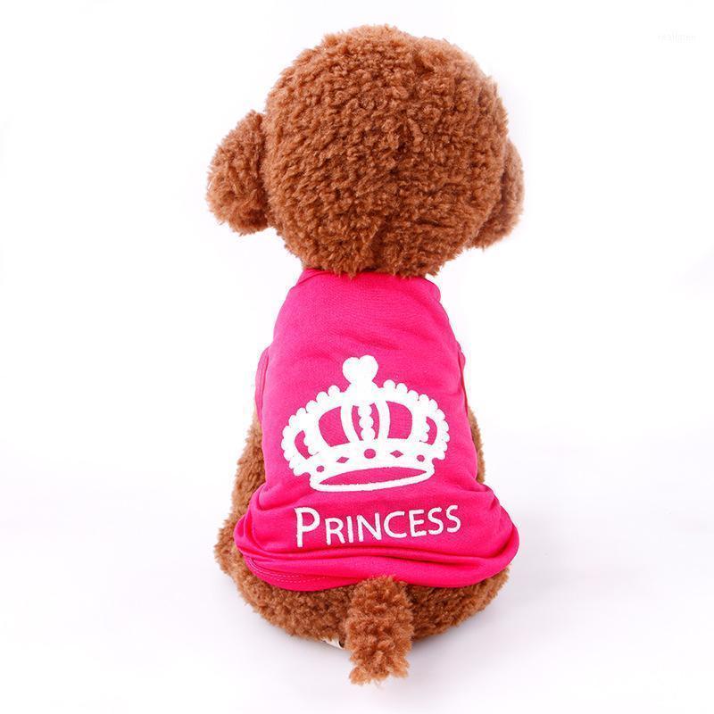 Veste de chien T-shirt Chihuahua Petit chat Vêtements pour animaux de compagnie Ropa de Verano Para Perros Couronne d'été Vêtements de chien imprimé Meilleur cadeau1