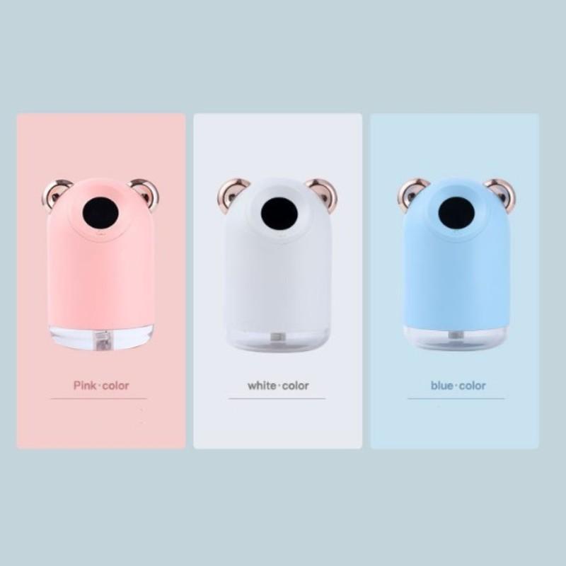Home Luftbefeuchter Hautpflege Wasserversorgungsgerät Stereoohr USB-Ladedampfgerät Mini 13.6cm Glow Smart Control Lichter 18 9CL G2