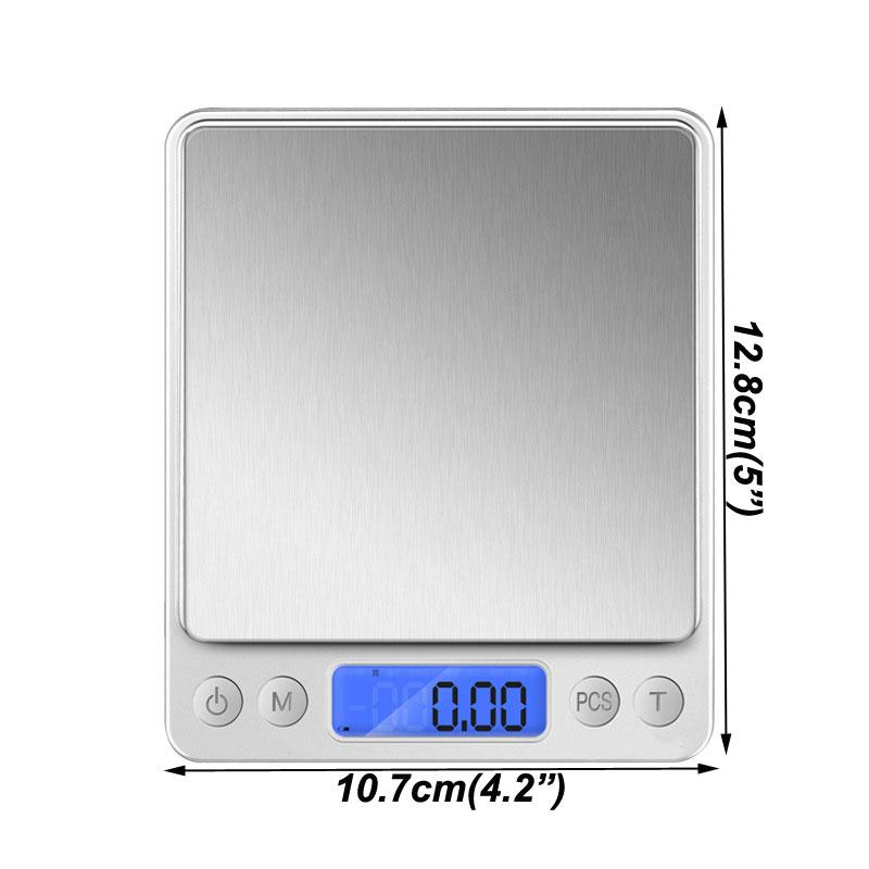 Portable Mini Electronic Digital Scales New 500/0.01g 3000g/0.1g LCD Postal Kitchen Jewelry Weight Balance Scales HWF3086