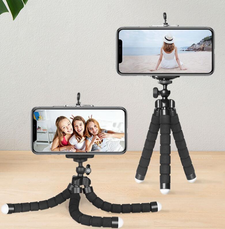 مرنة الأخطبوط ترايبود حامل الهاتف العالمي حامل قوس للهاتف الخليوي سيارة كاميرا selfie monopod مع بلوتوث البعيد مصراع 2021