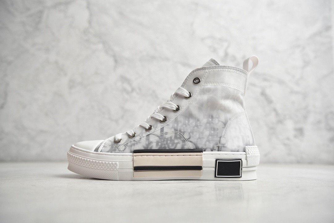 19s B23 B24 B24 Oblique Alto Superior Superior Sneakers Obliques Impressão de Couro Técnico 19SS Técnico Athletic Sneaker Sapatos Clássicos