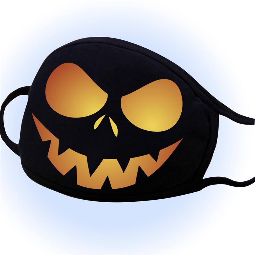 Masques de concepteur de visage Halloween Ghost Black Face masque masque solaire Haze anti-poussière Hommes et femmes Impression du masque facial lavable DDC3298