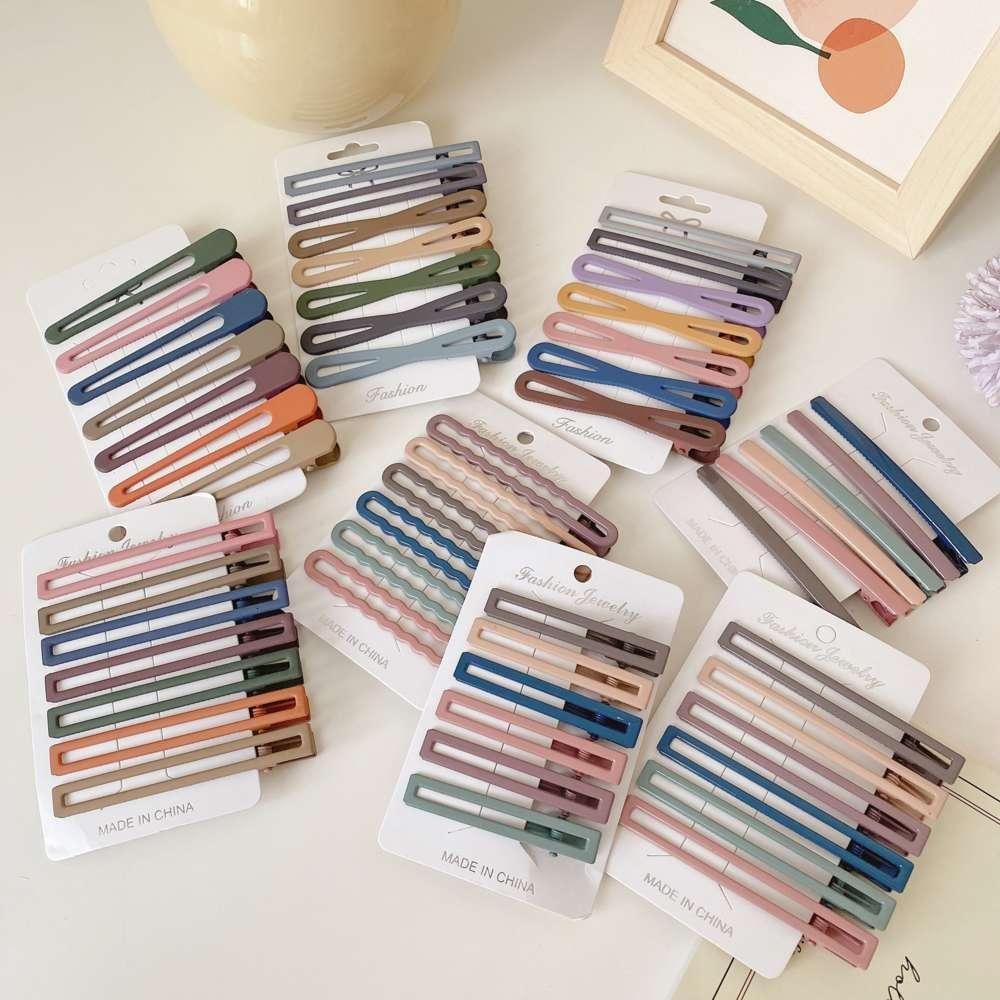 Set Morandi Color Edge Clip, Sanya Broken Haarartefakt, Fee, Haarnadel, koreanische Haarnadel