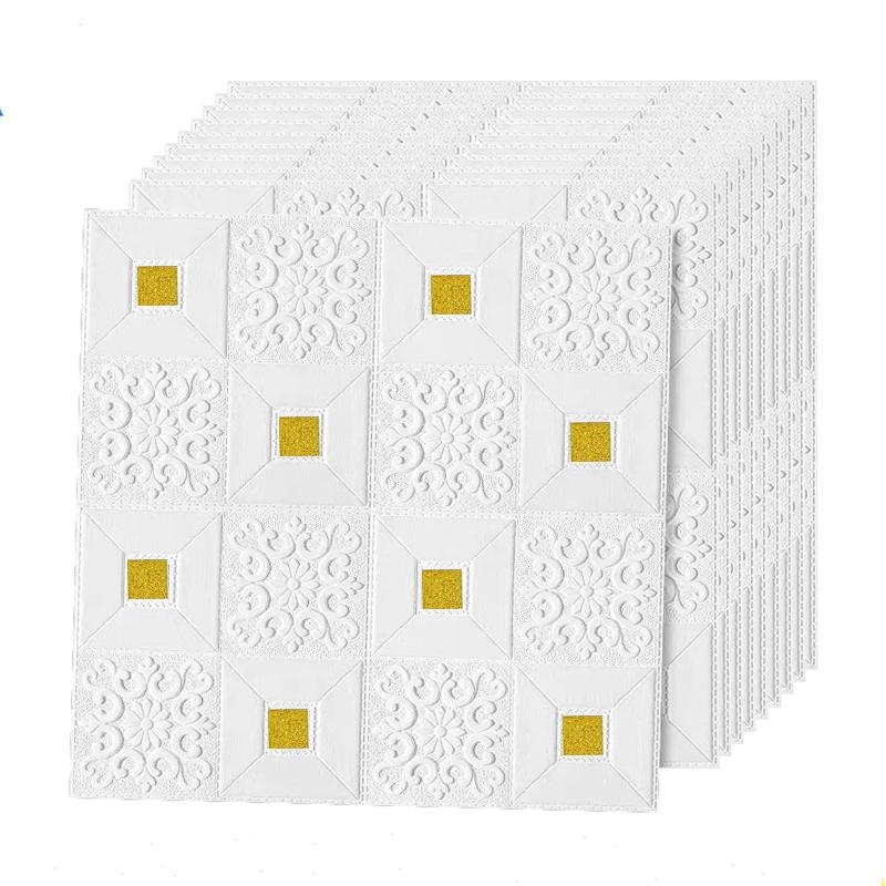 3D 벽 스티커 모조 벽돌 침실 장식 방수 객실 용 방수 자기 접착 벽지 주방 TV 배경 70 * 70cm