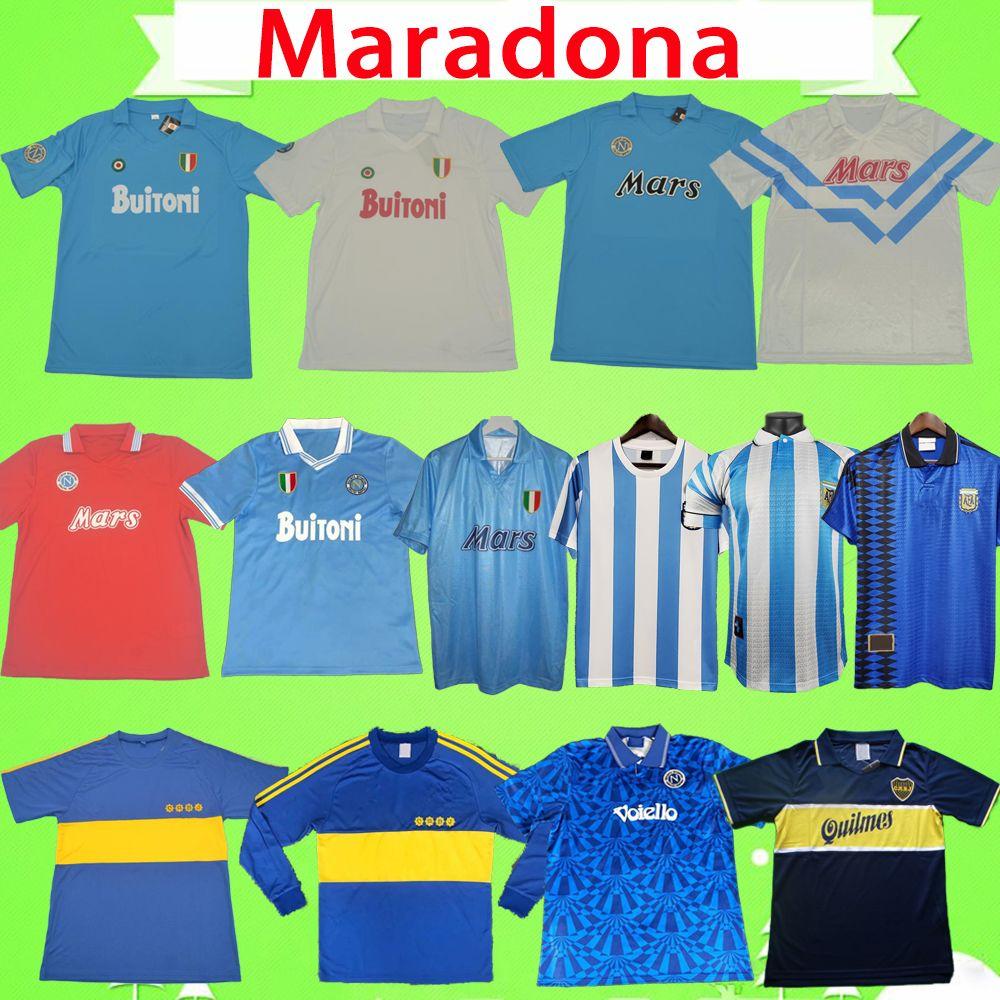 Napoli 1986 1987 1988 1989 1990 1991 Maradona Retro Napoli Futbol Formaları 1981 1995 1996 Klasik Vintage Boca Juniors Futbol Gömlek Ev