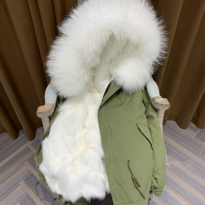 Cappotti di pelliccia Fox Furry Pelle Fodera Femminile Femminili Giacche Plus Hot Size Abbigliamento invernale Cordon V9ZB