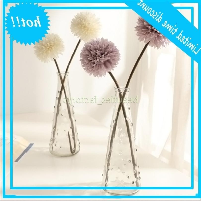 Künstliche Chrysantheme Ball Bouquet Restaurant Home Office Tischdekor Gefälschte Blumen 5 Farben Gesamtlänge 32 cm