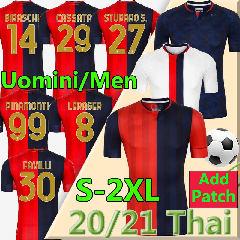 2020 2021 Genoa cricket Soccer Jerseys 10 Gumus 11 Kouame 20 Schone Romero Sturaro Pinamonti T.Sanabria Custom CFC 20 21 T-shirt de football