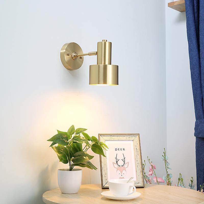 Moderne nordique LED mur lumières luminaires luminaires laiton cuivre salon salle de bain miroir miroir miroir vintage mufilce à côté de la lampe