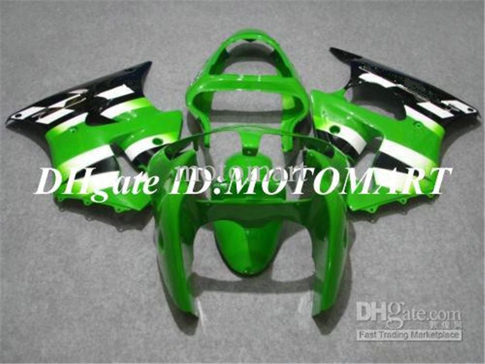 Grünes weißes schwarzes Verkleidungsset für Kawasaki ZX6R 00 01 02 ZX-6R 2000-2002 636 ZX 6R 2000 2001 2002 Verkleidung Set