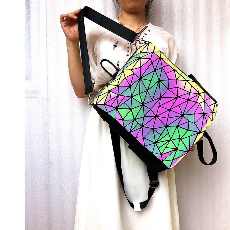 Fashion brand luminous Women's backpack laptop Storage for teenagers School Outdoor travel waterproof shoulder bag Q1113