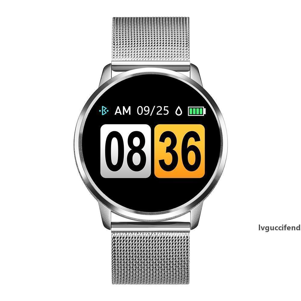 Pantalla Q8 reloj elegante del color OLED mujeres SmartWatch Moda rastreador de ejercicios monitor del ritmo cardíaco