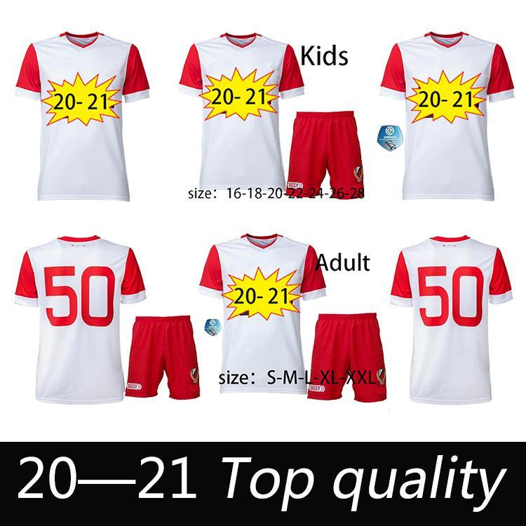 Men + Kids Kit 20 21 FC Utrecht Soccer Jerseys Hogar 50 años de aniversario 2020 2021 Utrecht Hoogma Janssen Dario Dumic Footbll Shirts
