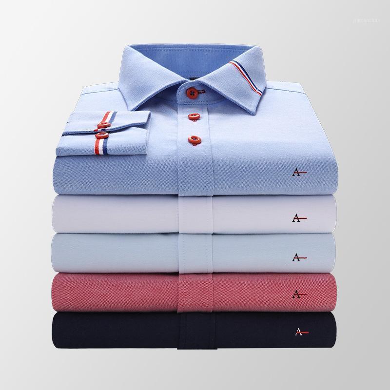 2020 Camisa Aramis de alta calidad Caída de manga larga camisa formal Camisa Social Masculina Casual Slim Slim Hombre