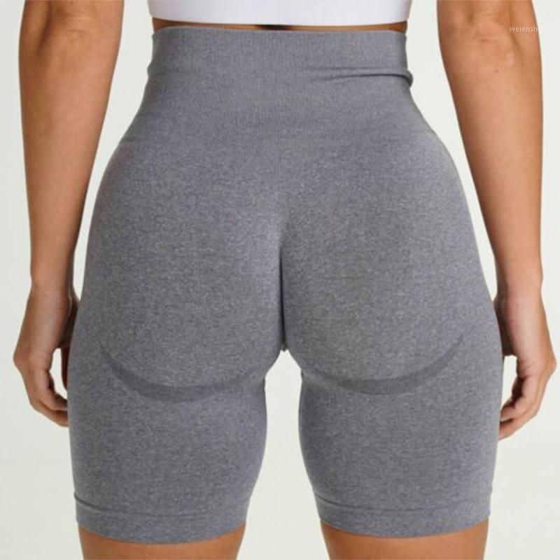 Nahtlose Sports kurze Frauen Sommer Hohe Taille Fitness Shorts Squat Proof Bummach Control Gym Workout Casual Bermuda1