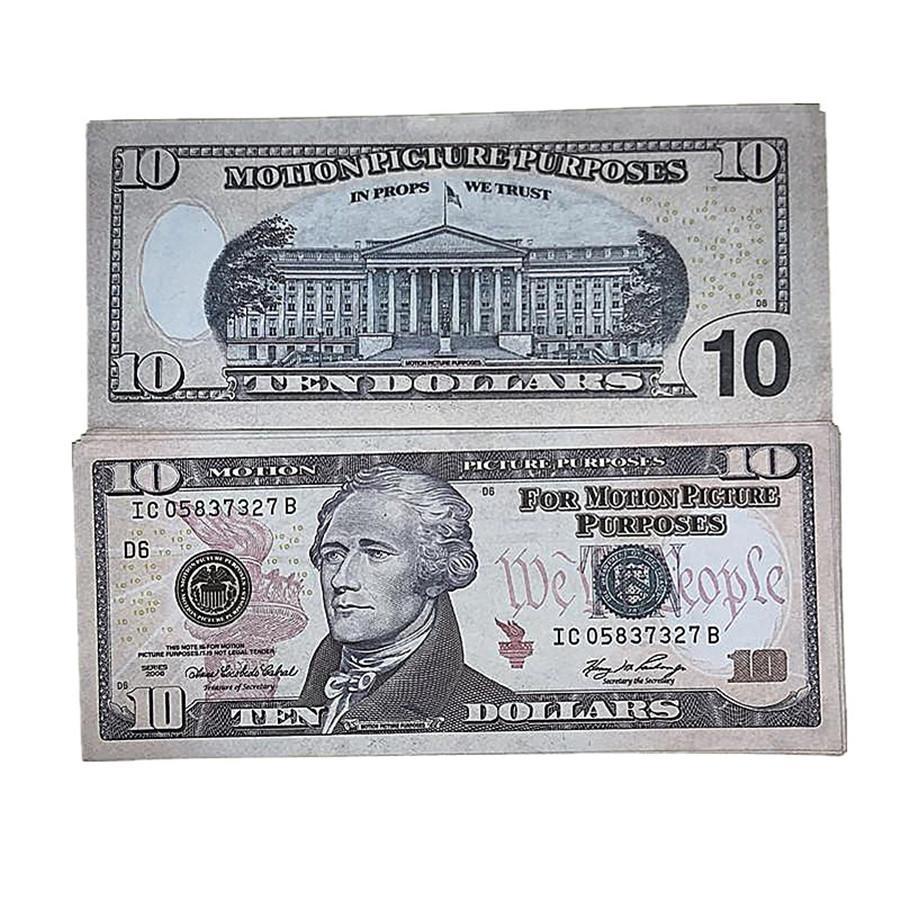 Disparo LBCJR TOYS FAST TOYS AMERICANO 8E COPY BAR PROPS DINERO DE NIÑOS DE PELÍCULA DE PELÍCULA Billetes de banco de moneda 100pcs / Pack MXTKG