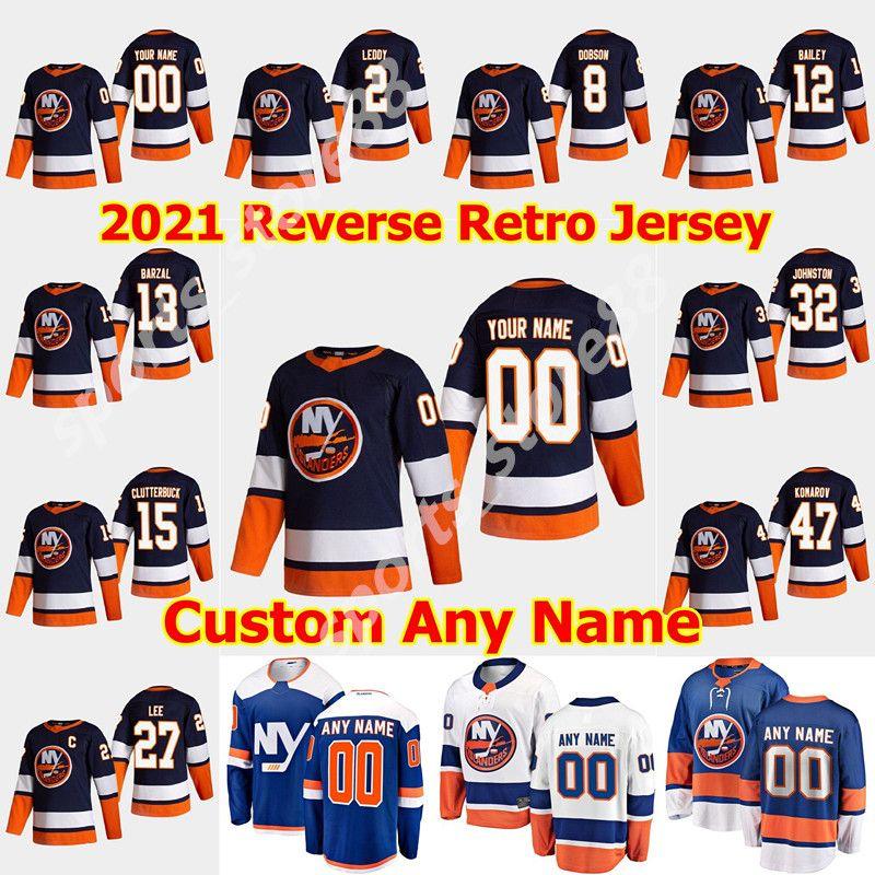 New York Islanders 2021 Reverse Retro Hockey Jersey 8 Noah Dobson Jersey Anthony Beauvillier Oliver Wahlstrom Johnny Boychuk Custom genäht