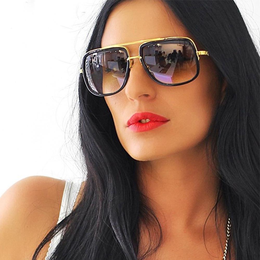 Moda de lujo Cuadrado Marco de metal Marca Marca Clásica Gafas de sol Hombres Cuadrado Diseño de marca Sun Gafas Oculos Retro Driver Goggles