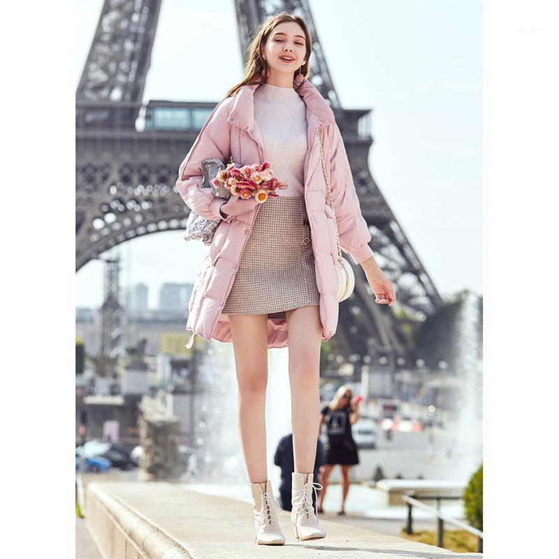2020 New Hotsale Female Jacket Women Parka Short Pink Fashion Warm Hooded Top Brand Quality Women Coat Outwear In Stock M701