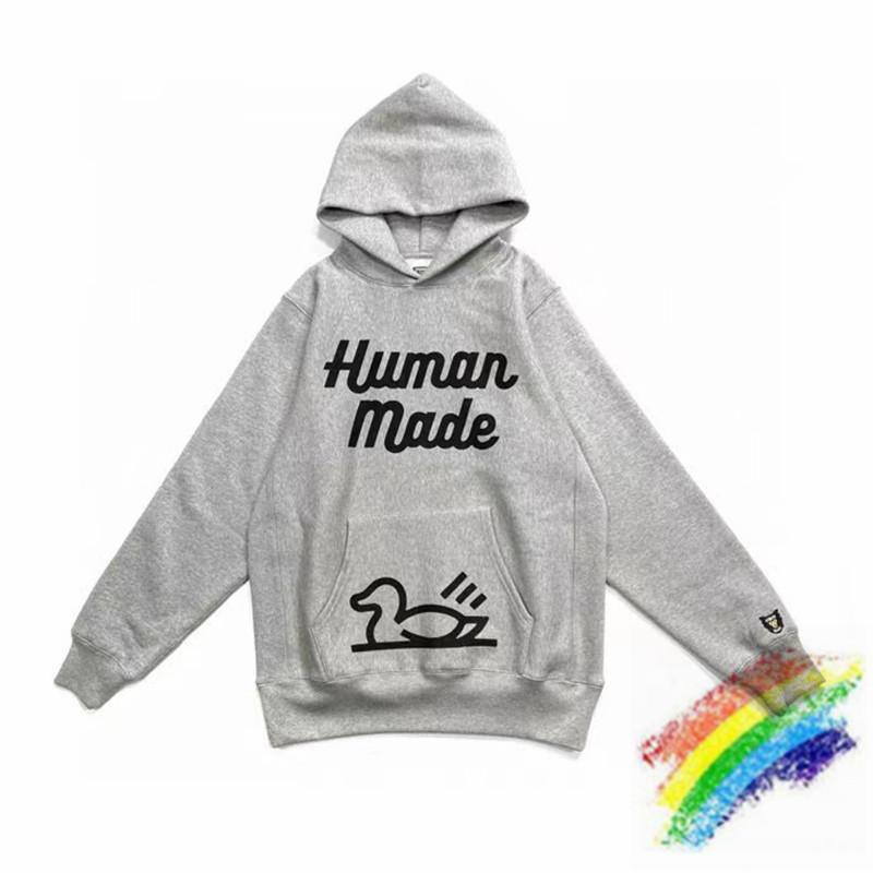 Printing Hoodie Men Women 1 Top Quality Heavy Fabric Gray Streetwear Pullover
