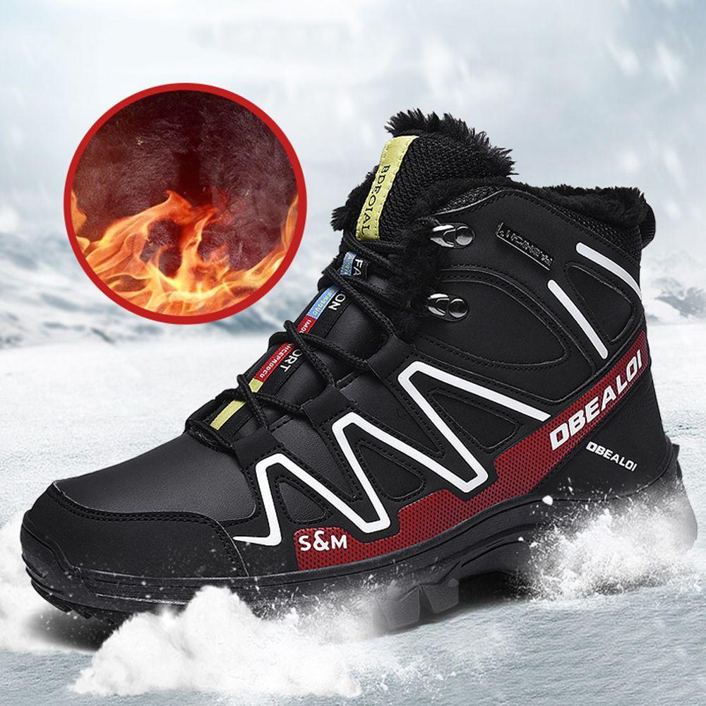 Männer Stiefel Winter Plüsch Warme Schnee Stiefel Lässige Männer Winter Solomon Wanderschuhe Herrenschuhe Ankle Boots Zapatos de Hombre 48 201215