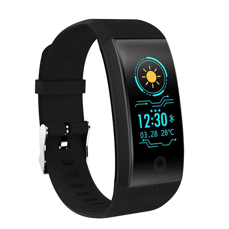 QW18 Smart Armband Uhr Blut Sauerstoff Blutdruck Herzfrequenz Monitor IP67 Fitness Tracker Smart Armbanduhr für iPhone Android Uhr
