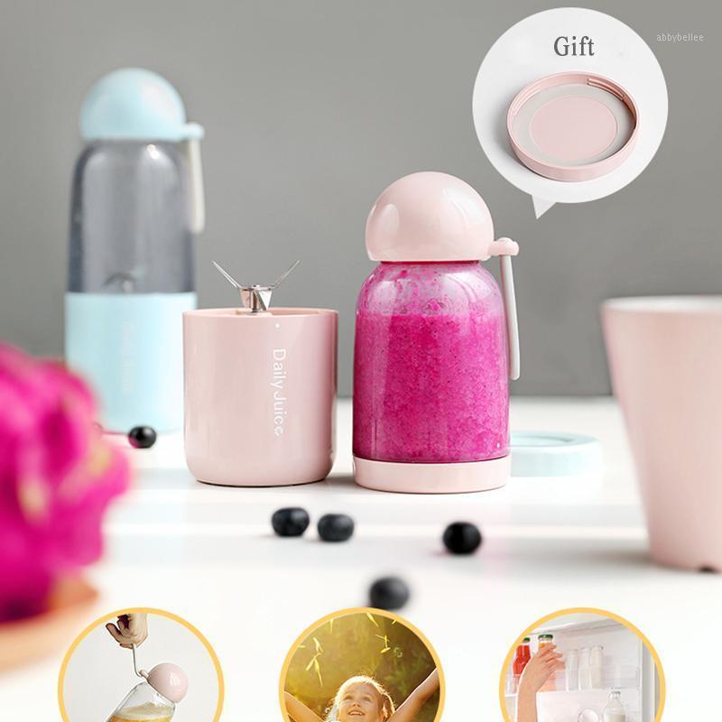 USB Opladen Elektrische Juicer Mini HuishoudeLijke Fruit Blender Milkshake Mengbeker Portáil SAP FLES extractor Máquina de expulsor1