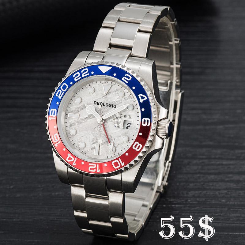 Montre de Luxe Mens Menic Mechanical Watches Clásico Estilo 42mm Completo Acero Inoxidable Natación Relojes de pulsera Sapphire Super Luminoso Reloj