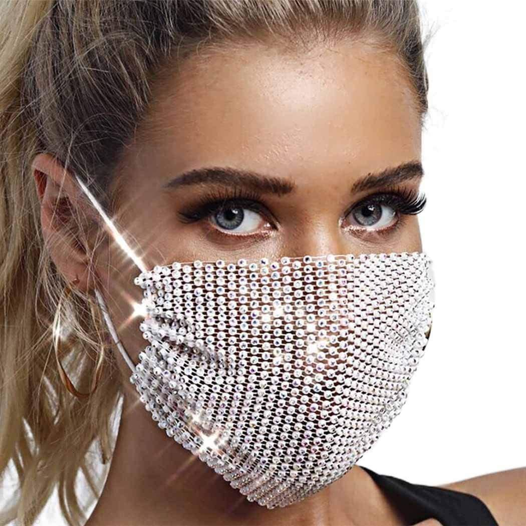 Cristal luxo jóias forma de olho strass bling para mulheres moda elástico máscara nightclub jóias decorativas oze1