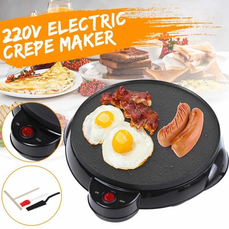 Electric Crepe Maker Pizza Bancake Machine Anly Stick Griddle Paking Pan Cake Machine Kitchen Cooking Tools 220 В кухонный инструмент