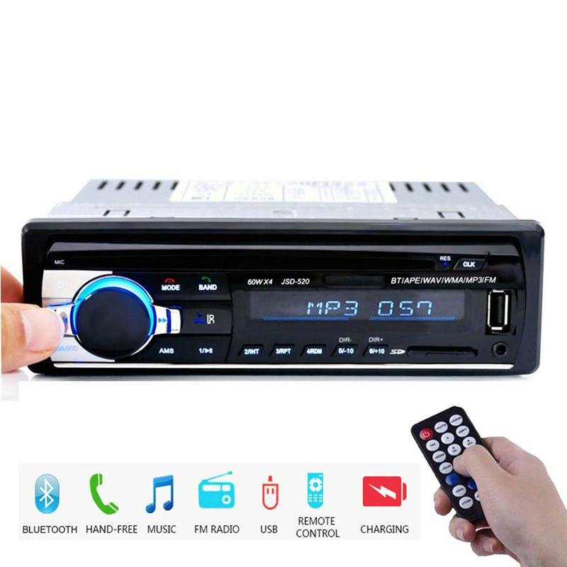 Auto-Radios Stereo-Fernbedienung digitale Bluetooth-Audio-Musik-Stereo 12V-Autoradio MP3-Player USB / SD / AUX-in Auto DVR QC09