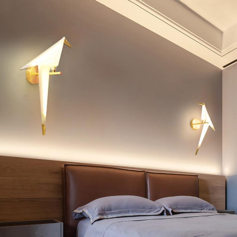 Lampada da parete Light Light Light LED Little Bird 110v 220v Staffa per camera da letto Camera da letto Soggiorno Loft Decoration Apparecchio