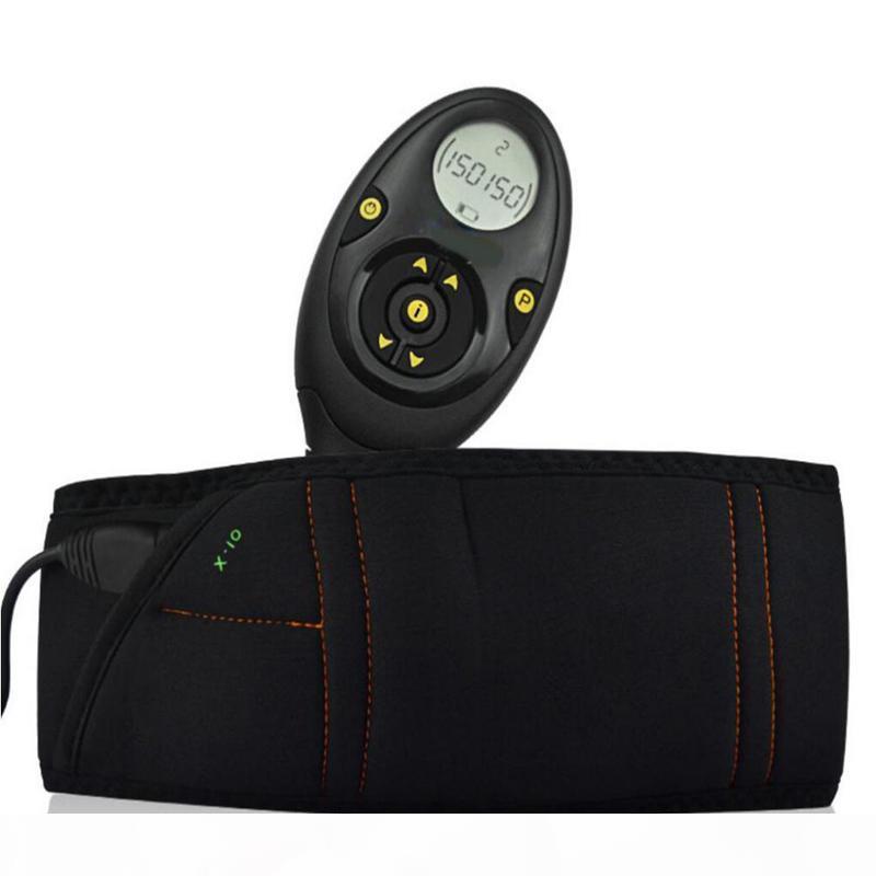 Masculino 150 Niveles de intensidad EMS Estimulador de músculos recargables Tóner muscular abdominal Para adelgazar Cinturón Flex con caja de venta