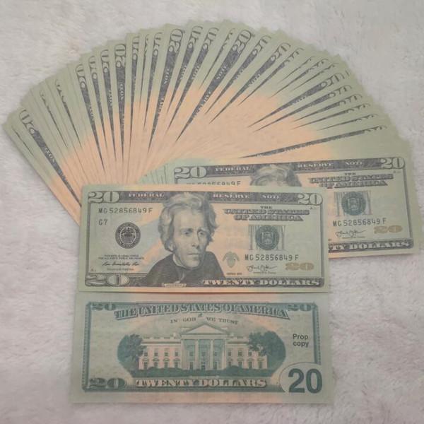 USA-Dollar-Prop-Geld-Geld-Banknoten-Papier-Neuheit Spielzeug Dollar-Währung-Party Fake Geld Kinder Geschenk Spielzeug Banknote 01