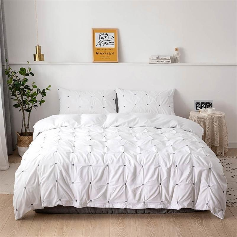 Светания Шелковидная наволочка Утешитель Крышка набор белья постельное белье Соединенные США Au Eu Twin Full Queen King Size LJ201128