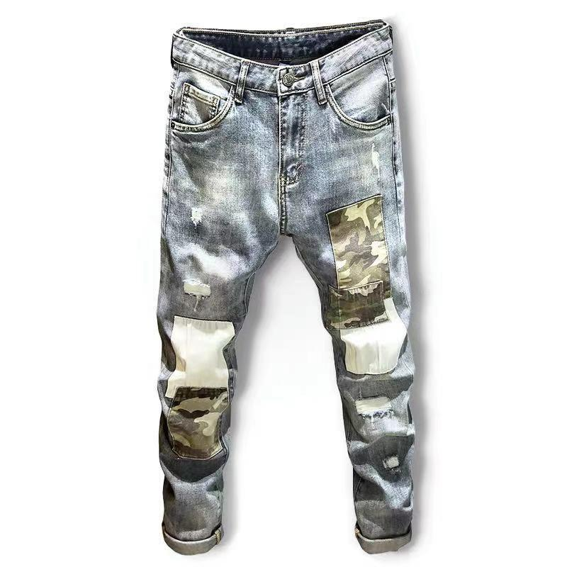 Marke Diesel Jeans Distressed Ripped Biker Hommes Slim Fit Motard Denim Jeans dünne zerrissene Top-Modus Pantalons Designer Hight Qualität