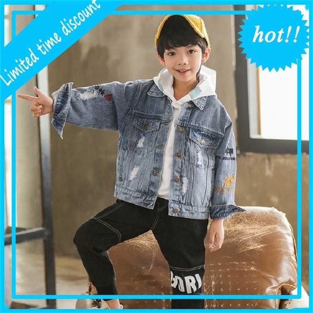 Выход Ленте Herfst разорвал детские мальчики моды Джин Джас Детская джинсовая одежда