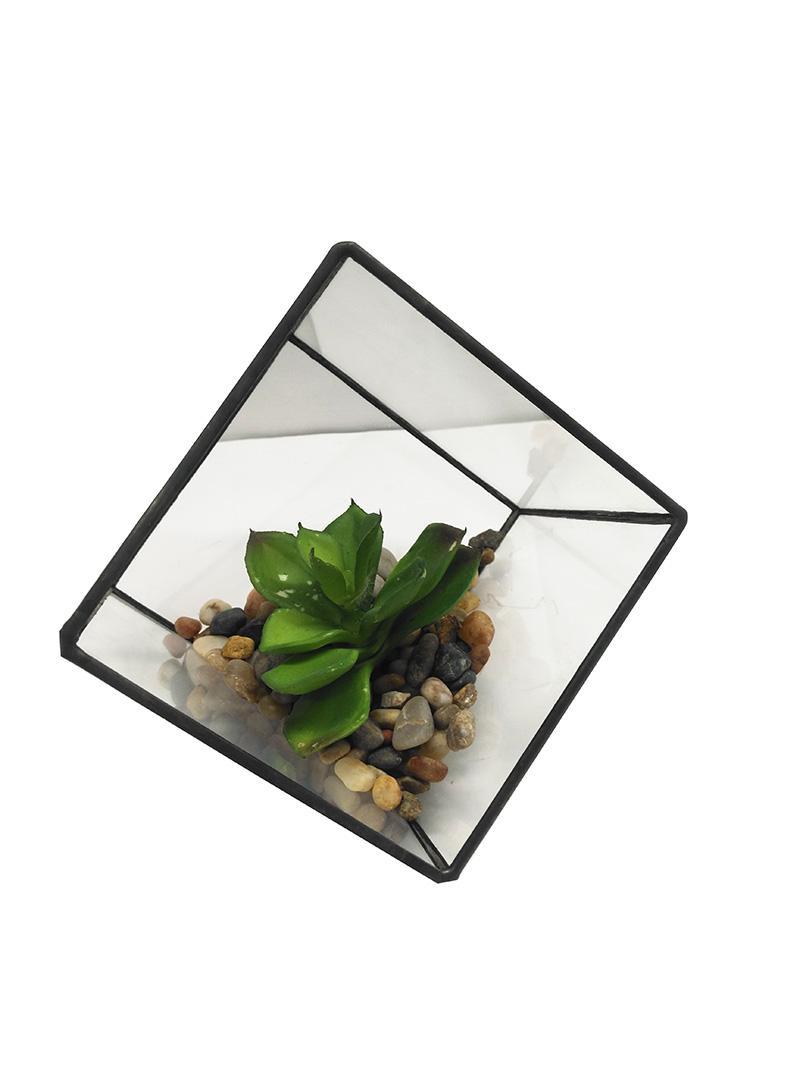Moda simple simulación planta decoración de la planta decoración del hogar vidrio cocina ventana sala de estar decoración de la sala de simulación planta plantilla planta ingenio