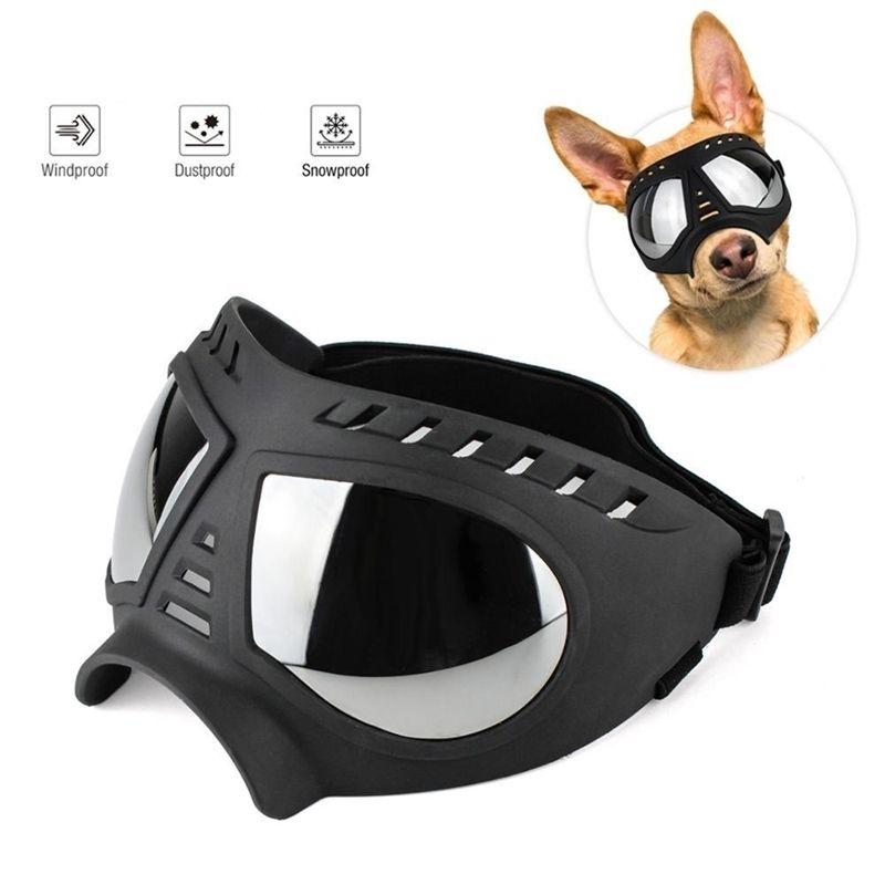 Cool Dog Sunglasses UV Protection Windproof Goggles Pet Eye Wear Medium Large Dog Swimming Skating Glasses Accessaries 201026