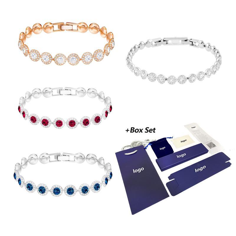 2020 Gioielli di moda Swa New Angelic Bracelet Blash Blue Rosso Chiaro Crystal Bracciale di cristallo di alta qualità per mamma fidanzata Z1126