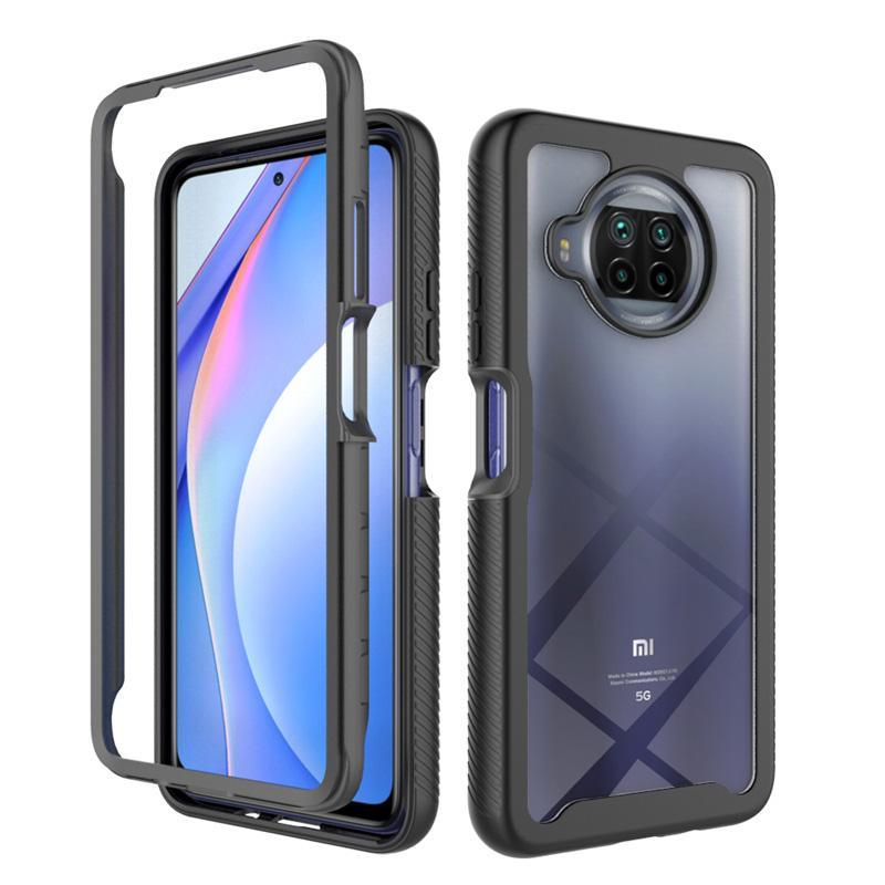 Coque de protection complète 2 en 1 pour Xiaomi MI 10T Lite Cristal Cristal Crystal Clear Case Case 10Tlite Coque de protection transparente transparente