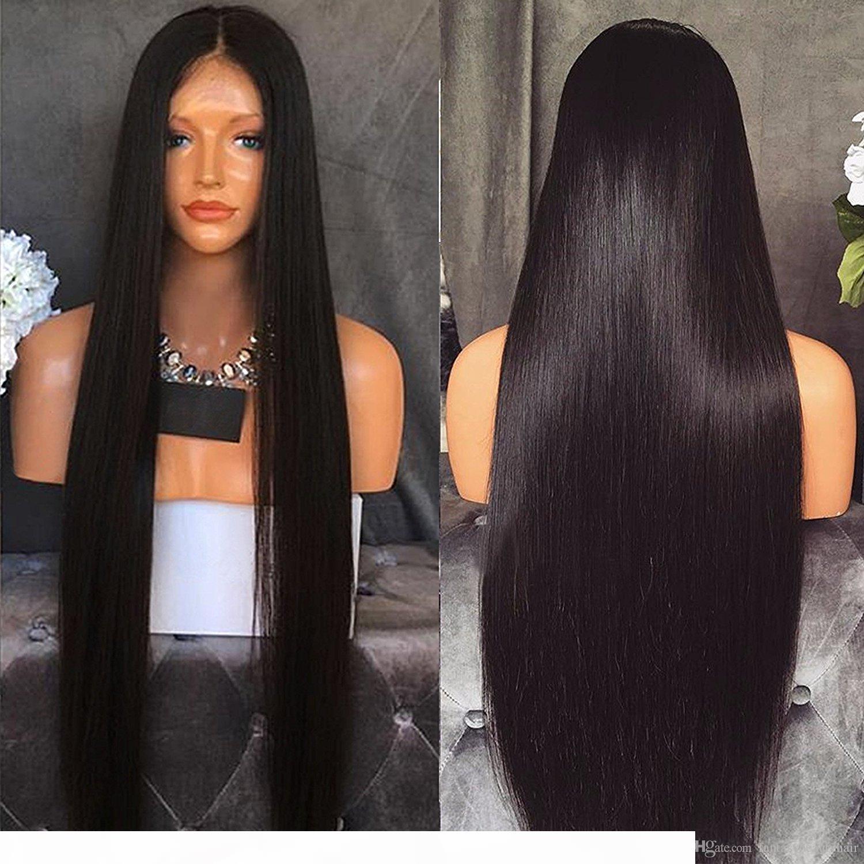 4x4 Silk Base Lace Front Парики шелковистые прямые перуанские волосы девственницы шелковые верхние кружевные фронтские парики бесчувственный шелковый верхний парик полных кружевных париков