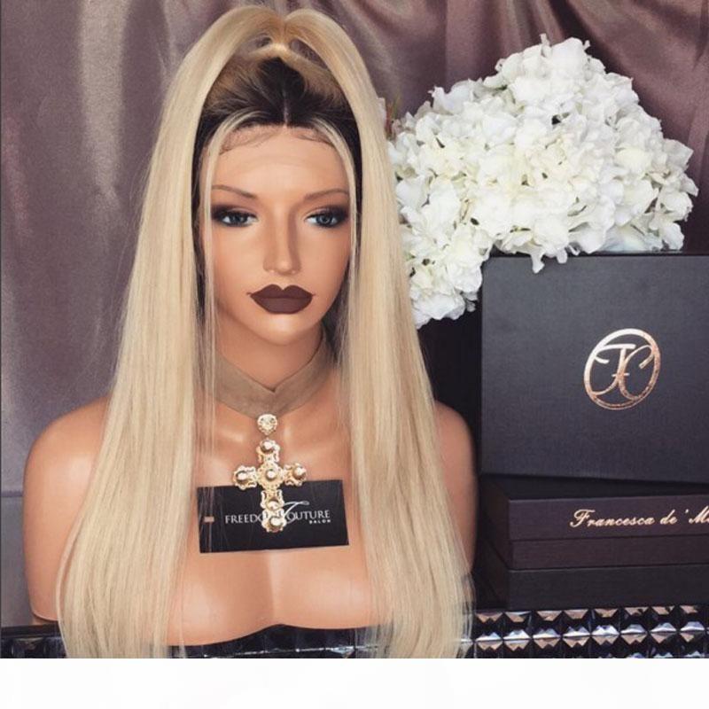 Fashion Celebrity #1b 613 Two Tone Mongolian virgin hair wigs human hair wigs blond 100% natural hair wigs for women